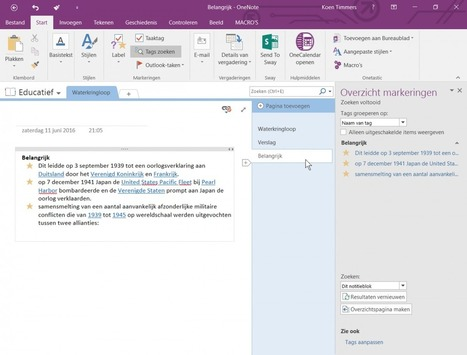10 great ways of using OneNote in Education | Blog Zelfstudie.be | Learning about Technology and Education | Scoop.it