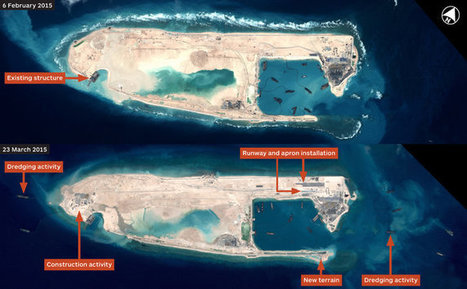 China Building Aircraft Runway in Disputed Spratly Islands | GEOINT | Scoop.it