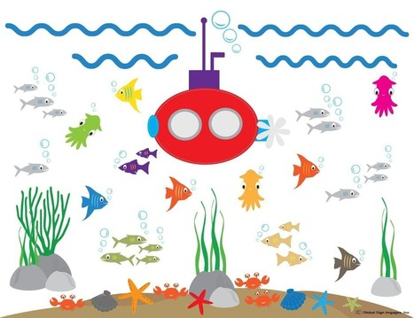 Removeable Vinyl Graphics For Your Home, Office, and Car | Roommates Submarine, Fish, Crabs, Seaweed Nursery Tree Wall Art Decor - Boy's Room - PICK A ROOM Decorate Your Life! | Design | Scoop.it
