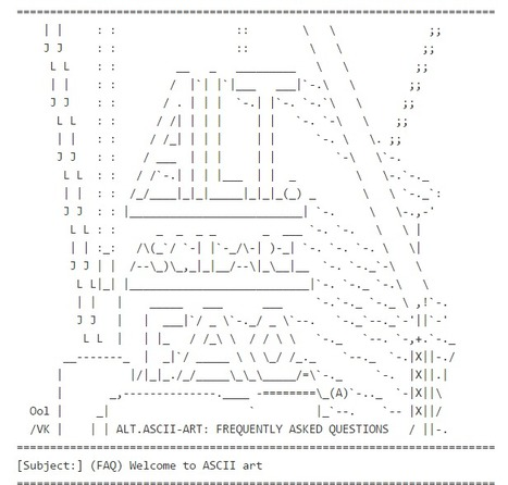 [FAQ] ASCII Art - answers to frequently asked questions | ASCII Art | Scoop.it