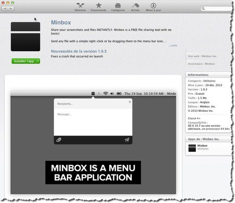 Comment envoyer rapidement de gros fichiers par mail avec Minbox. | François MAGNAN  Formateur Consultant | Scoop.it