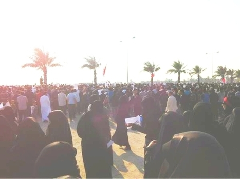 Funeral protest of Abdali Al Mawaly,  Bahrain martyr killed in a  CSgas attack by the regime!   Human Rights and the Will to be free   Scoop.it
