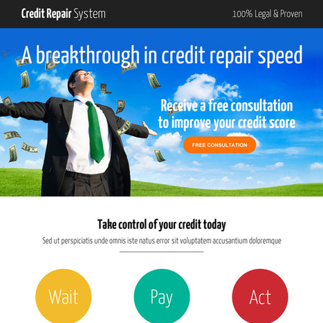 smart credit repair consultation call to action landing page design | buy landing page design | Scoop.it