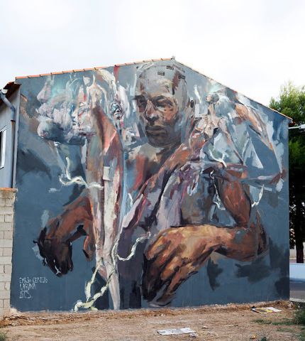 Street art in Las Mesas, Spain,<br/>by artists Laguna and Emilio Cerezo. | Tablets na educa&ccedil;&atilde;o | Scoop.it