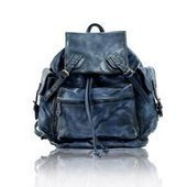distressed blue leahter backpack | personalized canvas messenger bags and backpack | Scoop.it