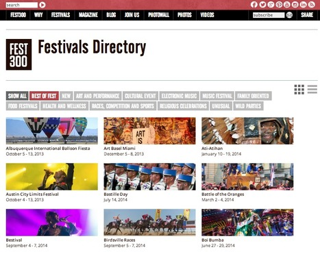 Great Content Curation Examples: Fest300 - The World's Best Festivals | BYOD | Scoop.it