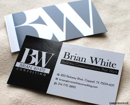 40 Cool Business Card Examples With Beautiful Typography | Design Inspiration | Tips&Tricks | Scoop.it