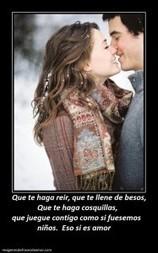 Que te haga reir, que te llene de besos, Que te haga | Imagenes de Frases de Amor | Imagenes Con Mensajes de Amor | Scoop.it