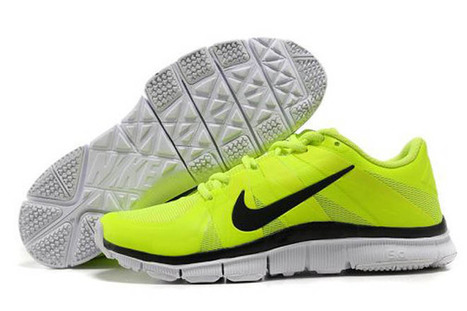 Nike Free Trainer 5.0 Training Shoe Volt Black White Mens | want and share | Scoop.it