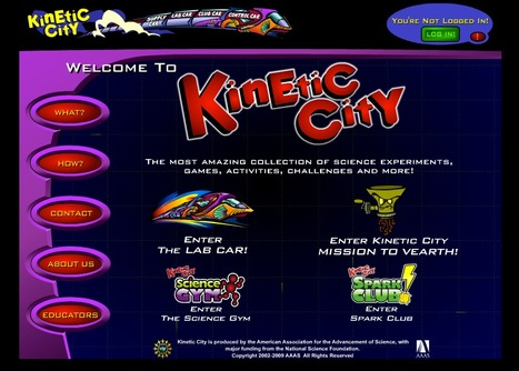 Kinetic City - Games & Experiments for Learning Science | EAL resources | Scoop.it