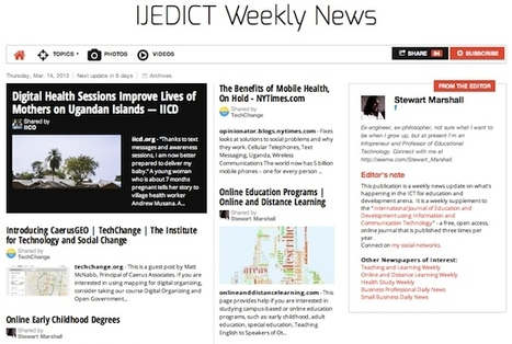 March 14, 2013: IJEDICT Weekly News is out | Studying Teaching and Learning | Scoop.it