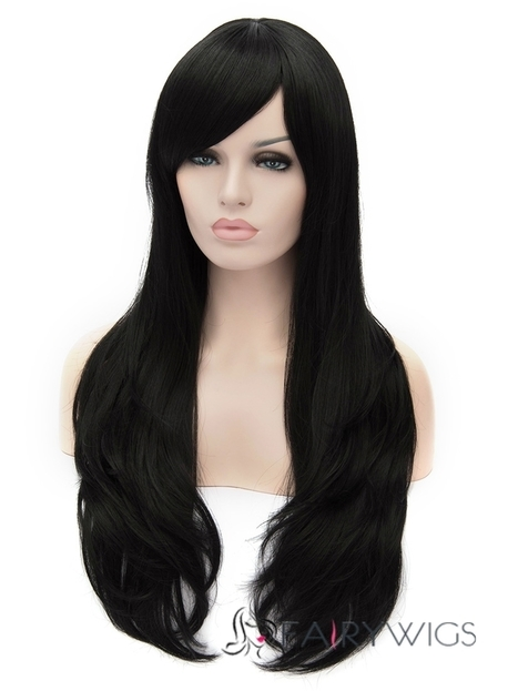 28 Inch Capless Wavy Black Synthetic Hair Wigs : fairywigs.com | Synthetic Hair Wigs | Scoop.it
