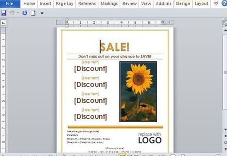 Sales Flyer Template for Word   Free Microsoft Word Templates   Scoop.it