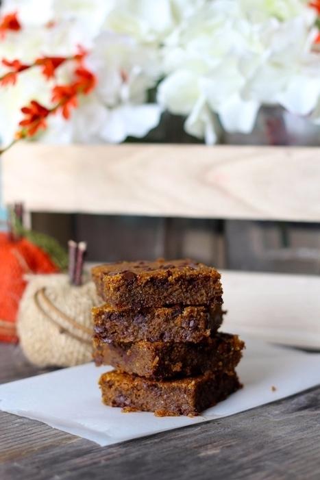 PaleOMG – Paleo Recipes – Ooey Gooey Chocolate Chip Pumpkin Bars | Recipes | Scoop.it