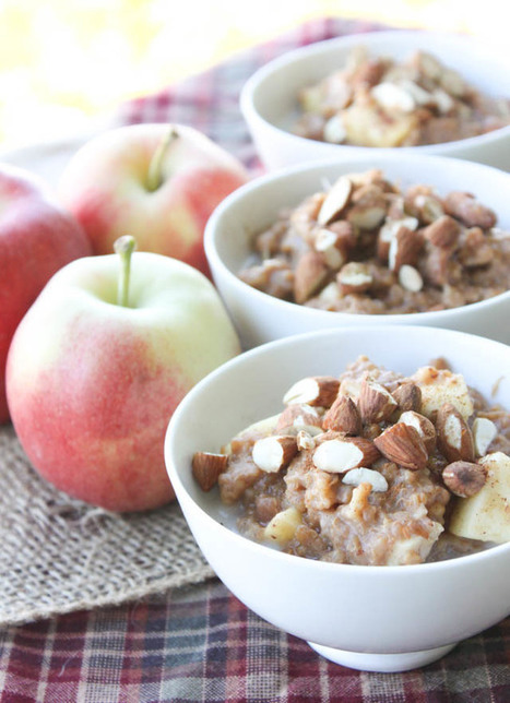 Slow Cooker: Overnight Apple Cinnamon Quinoa Oatmeal | MILLESIMES 62 : blog de Sandrine et Stéphane SAVORGNAN | Scoop.it
