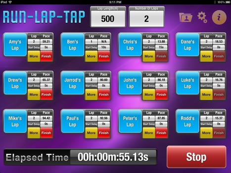 Run-Lap-Tap for iPad – The Stopwatch on Steroids | Technology Resources for K-12 Education | Scoop.it