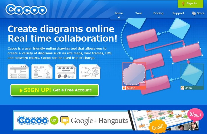 Cacoo: Create diagrams online Real time collaboration | Edu-Curator | Scoop.it