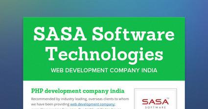 SASA Software Technologies - Web Development Company | Web Development Company India | Scoop.it
