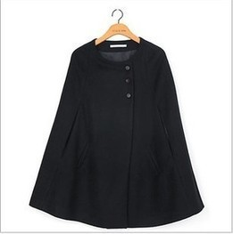 Cheap long section woolen shawl cape coat black loose trench coat in women outcoat from women clothing on sightface.com | Cheap women Clothing Online at Sightface | Scoop.it