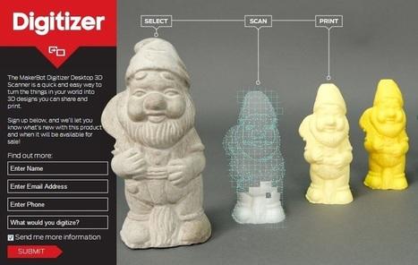 MakerBot Digitizer Desktop 3D Scanner Open for Pre-Orders | Bring back UK Design & Technology | Scoop.it