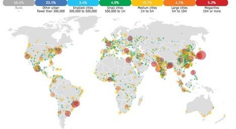 La urbanización en el  mundo entre 1950 y 2030 en mapas | Nuevas Geografías | Scoop.it