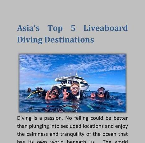 Asia's top 5 liveaboard diving destinations | Water Boats | Scoop.it
