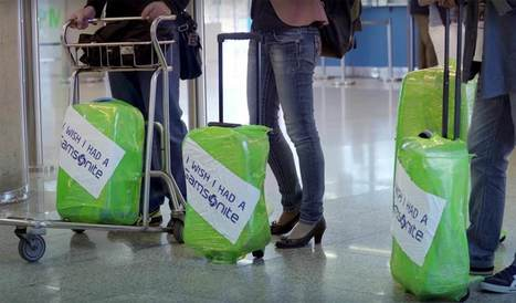 Innovation & Startup : Un service gratuit d'emballage de bagages utilisé comme publicité | HelloBiz | Innovative Marketing & Communication | Scoop.it