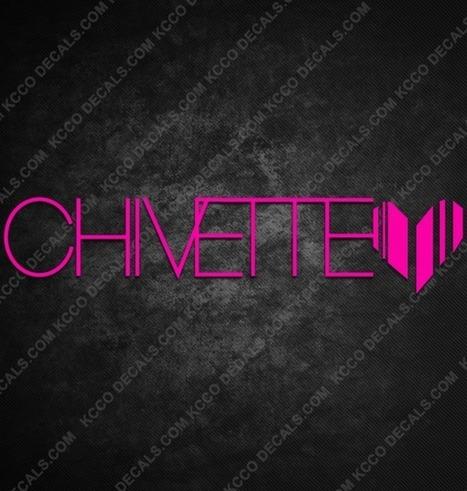 Chivette Heart Stickers | KCCO Stickers | Scoop.it