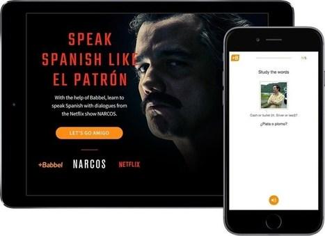 Netflix y Babbel se alían para enseñar a hablar español como Pablo Escobar en la serie 'Narcos' | Todoele - ELE en los medios de comunicación | Scoop.it