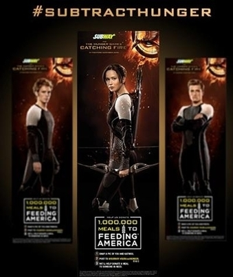"How @SUBWAY & @TheHungerGames are catching ""fire"" using all Marketing tools! 