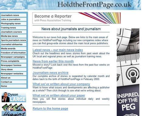 Hold the front page | Top sites for journalists | Scoop.it