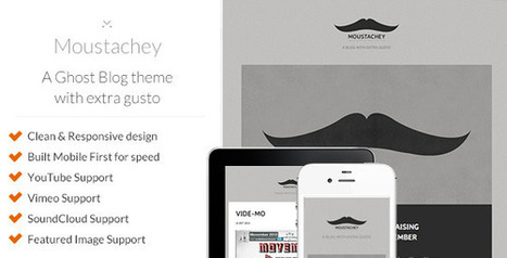 Moustachey: A Ghost Blog Theme with Extra Gusto - Wordpress Themes | Themes4Free | Scoop.it