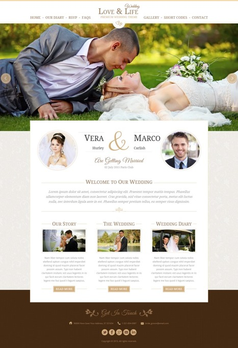 Love & Life Wedding WordPress Theme - ServerThemes.Net | Download Premium WordPress Themes | Scoop.it