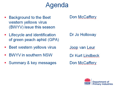 BWYV in Canola in NSW (workshop slideshows)   Australia's Research-based Learning Network   Beet western yellows virus   Scoop.it
