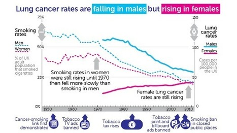 Lung Cancer Rates Climb by Three Quarters in Women While Halving in Men | Lung Cancer Dispatch | Scoop.it