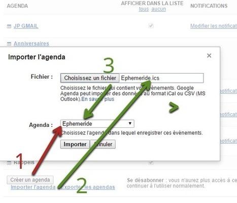 Ajouter un éphéméride à Google Agenda | Google Apps  (FR) | Scoop.it