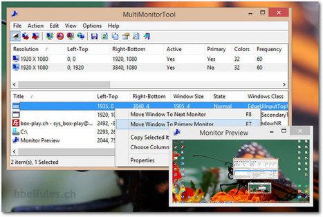 MultiMonitorTool - Gestionnaire multi moniteurs | Time to Learn | Scoop.it