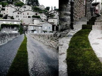 French Town Rolls Out Massive 1,400-Foot-Long Carpet Made of Grass (Video) | French | Scoop.it