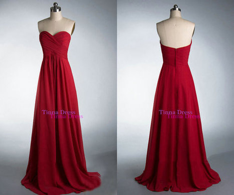 Cheap Prom dress, Red prom dresses, long bridesmaid dress | bridesmaid dresses | Scoop.it