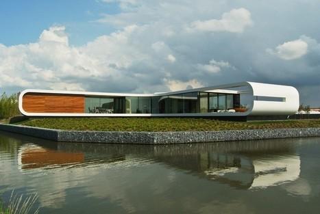 architecture futuriste pour cette maison contem. Black Bedroom Furniture Sets. Home Design Ideas
