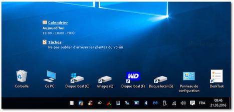 DeskTask affiche votre calendrier, vos tâches directement sur le bureau Windows | Chroniques libelluliennes | Scoop.it