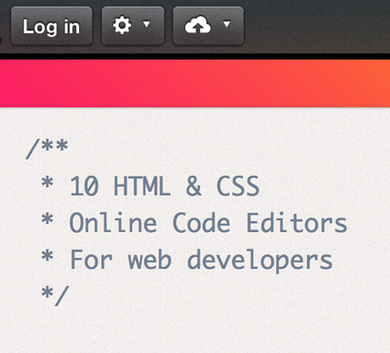 10 HTML & CSS Online Code Editors for Web Developers | Searched and Found | Scoop.it