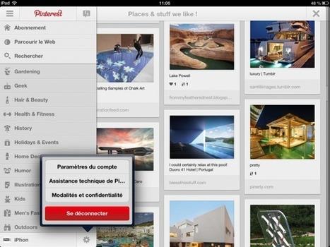 Pinterest sur iPad et Android « LesArdoises   Réseaux Sociaux : Twitter, Facebook, Google+, Pinterest   Scoop.it
