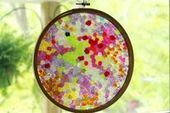 Melted Bead Suncatcher in an Embroidery Hoop Frame - The Artful ... | Screenprinting & Embroidery Quality Designs | Scoop.it