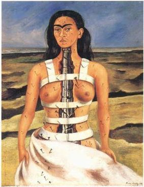 Frida Kahlo: The broken column (self-portrait), 1944 | Frida Kahlo- The Broken Column | Scoop.it