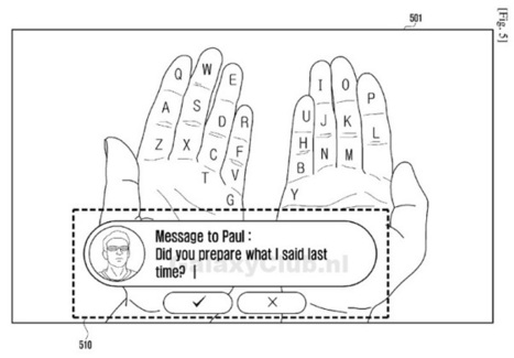 Samsung patent aims to turn your hands into an AR keyboard, ideal for wearables | Samsung mobile | Scoop.it