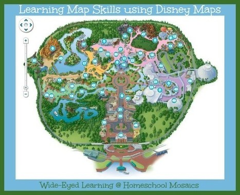 Learning Map Skills using Disney Maps - Homeschool Mosaics   Teaching skills in the NSW Geography curriculum   Scoop.it