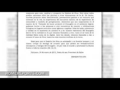 Mensaje de Benedicto XVI para la Jornada de las Comunicaciones Sociales | PlazaPublica | Scoop.it