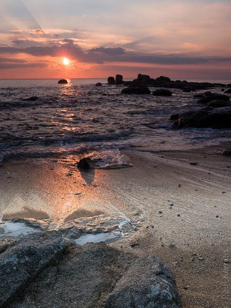 photo en Finistère, Bretagne et...: marée haute, gros coëf. et soleil couchant à Trégunc (6 photos) | photo en Bretagne - Finistère | Scoop.it
