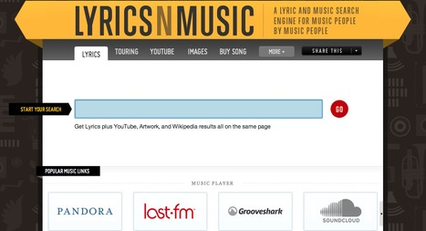 LYRICSnMUSIC.COM — A Lyric and Music Search Engine for Music People by Music People | Technology Ideas | Scoop.it